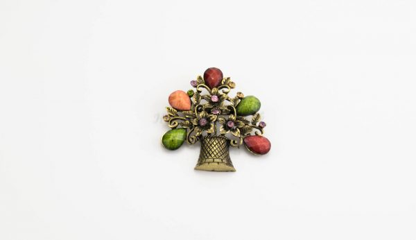 Antique Flower Hijab Brooch - Mixed - Hidden Pearls