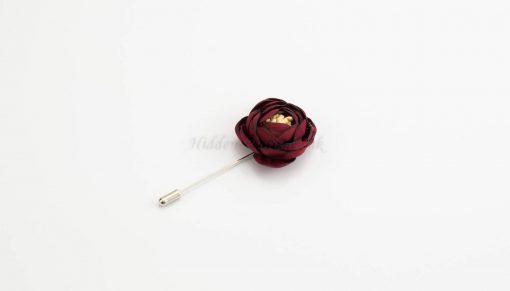 Rose Hijab Pins - Red - Hidden Pearls