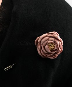 Rose Hijab Pin - Pink - Hidden Pearls