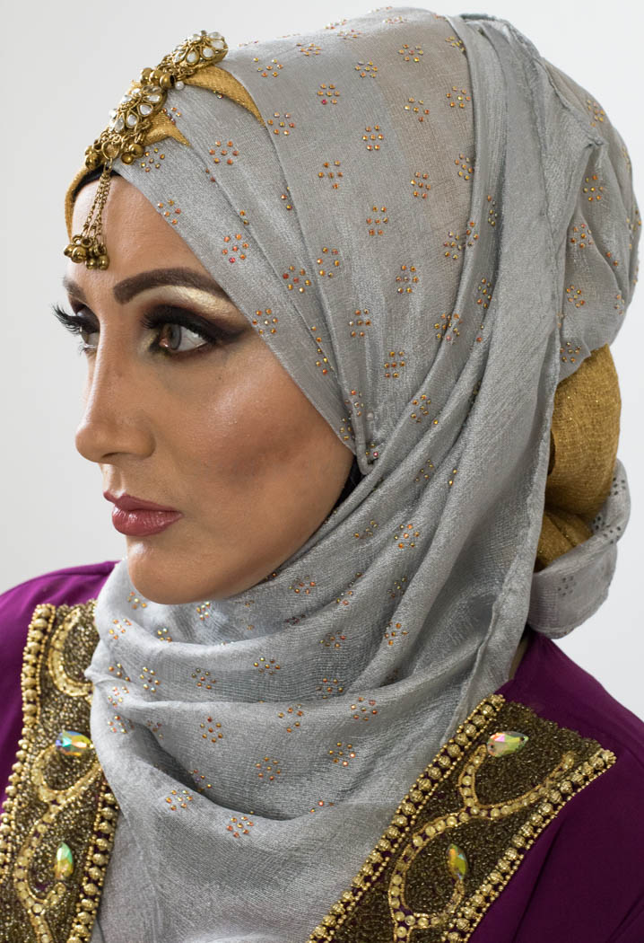 Scattered Bliss Hijab - Silver - Hidden Pearls
