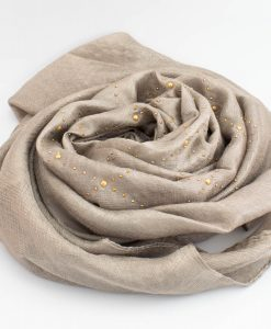 Deluxe Pearl & Gems Wedding Hijab - Champagne 2 - Hidden Pearls