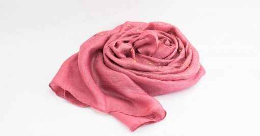 Deluxe Pearl & Gems Wedding Hijab - Rose 2 - Hidden Pearls