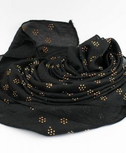 Deluxe Scattered Bliss Wedding Hijab - Black 3 - Hidden Pearls