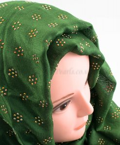 Deluxe Scattered Bliss Wedding Hijab - Emerald - Hidden Pearls