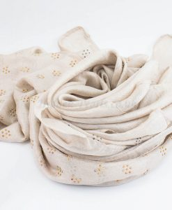 Deluxe Scattered Bliss Wedding Hijab - Ivory 2- Hidden Pearls