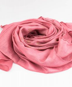Deluxe Scattered Bliss Wedding Hijab - Rose 2 - Hidden Pearls