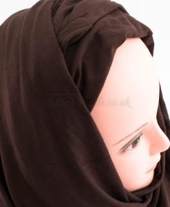Diamante Jersey Hijab - Chocolate - Hidden Pearls