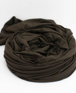 Diamante Jersey Hijab - Dark Chocolate 2 - Hidden Pearls