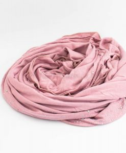 Diamante Jersey Hijab - Dusky Pink - Hidden Pearls