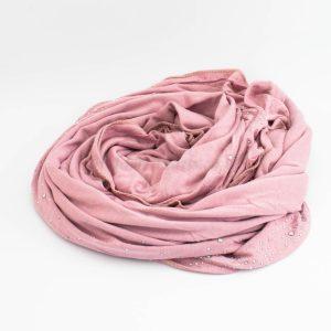 Diamante Jersey Hijab - Dusky Pink - Hidden Pearls