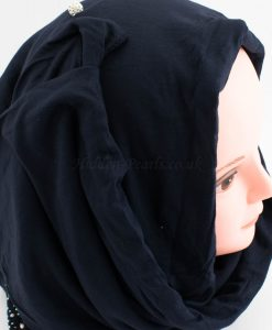 Diamante Jersey Hijab - Midnight Blue - Hidden Pearls