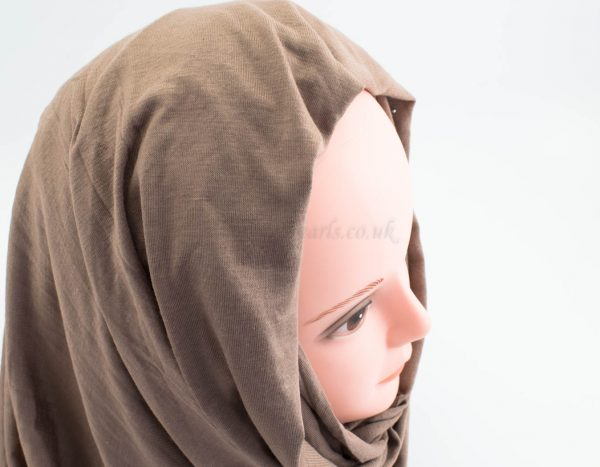Diamante Jersey Hijab - Mocha 2 - Hidden Pearls