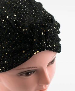 Glitter Turban - Black - Hidden Pearls