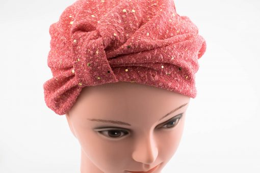 Glitter Turban - Deep Blush - Hidden Pearls