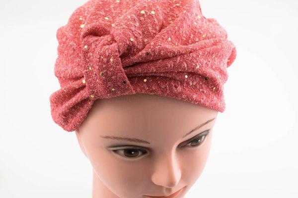 Glitter Turban - Deep Blush - Hidden Pearls