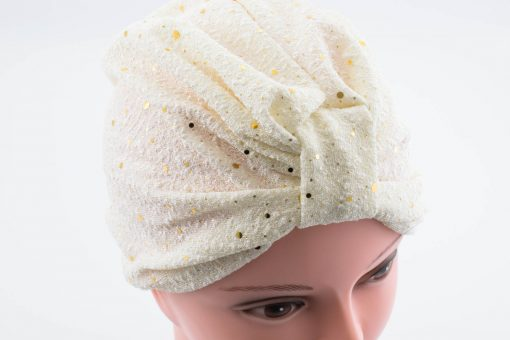 Glitter Turban - Ivory - Hidden Pearls