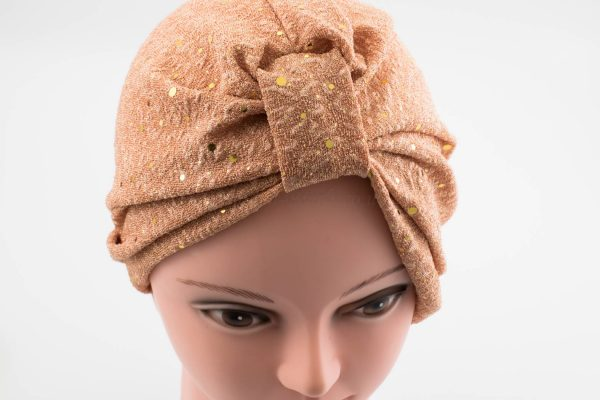 Glitter Turban - Rose Gold - Hidden Pearls