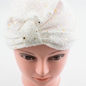 Glitter Turban - White - Hidden Pearls
