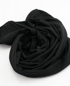 Lycra Plain Children Hijab - Black - Hidden Pearls