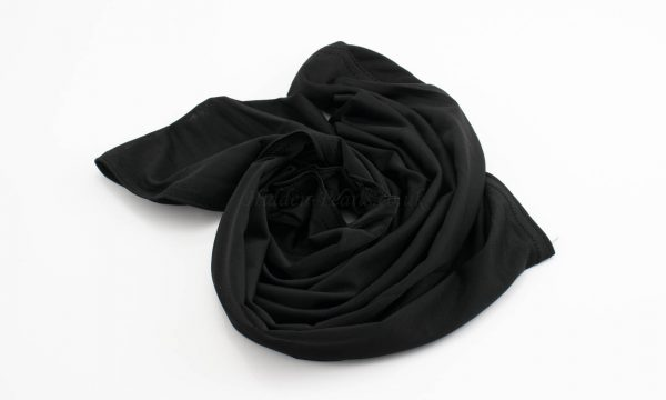 Lycra Plain Children Hijab - Black - Hidden Pearls