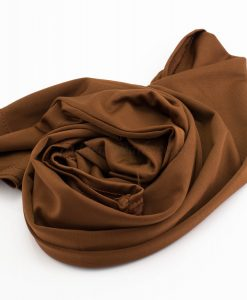 Lycra Plain Children Hijab - Brown - Hidden Pearls