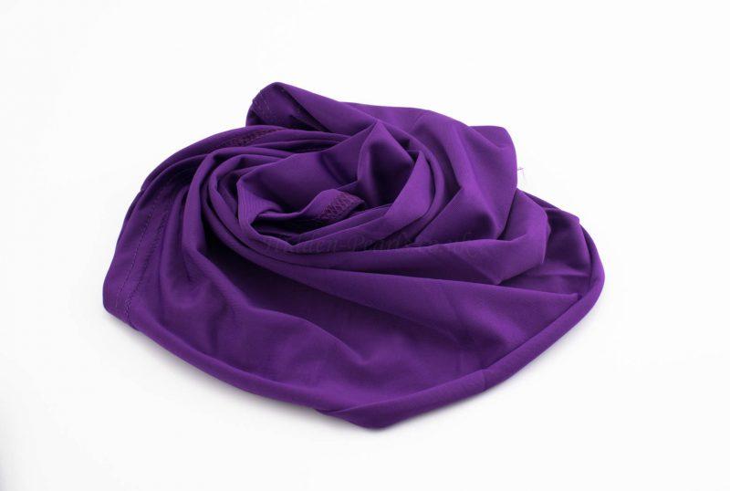 Lycra Plain Children Hijab - Purple - Hidden Pearls
