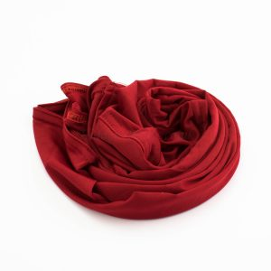 Lycra Plain Children Hijab - Red - Hidden Pearls