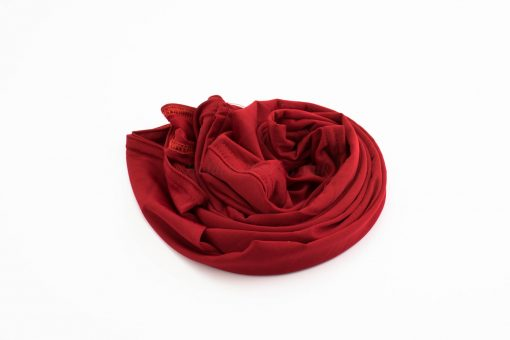 Lycra Plain Children Hijab - Red - Hidden Pearls