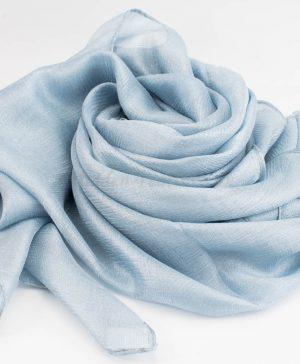 Shimmer Silk Hijab - Aquamarine - Hidden Pearls.NEF