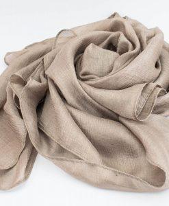 Shimmer Silk Hijab - Champagne - Hidden Pearls.NEF