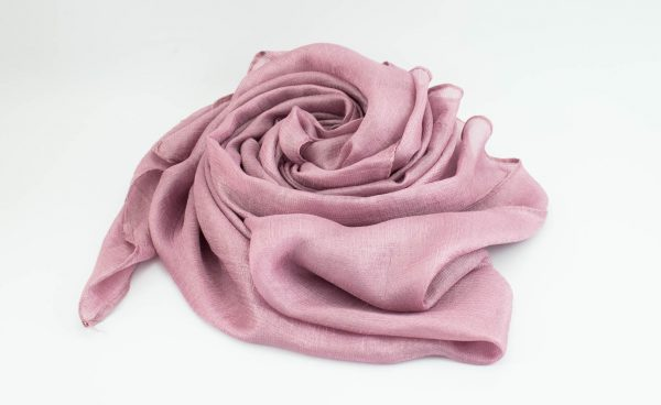 Shimmer Silk Hijab - Dusky Rose 2- Hidden Pearls.NEF