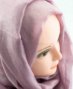 Shimmer Silk Hijab - Dusky Rose 2 - Hidden Pearls.NEF
