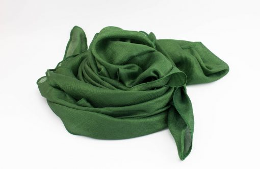 Shimmer Silk Hijab - Emerald 2 - Hidden Pearls.NEF