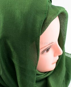 Shimmer Silk Hijab - Emerald - Hidden Pearls.NEF