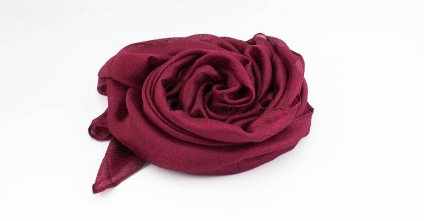 Shimmer Silk Hijab - Garnet 2 - Hidden Pearls.NEF