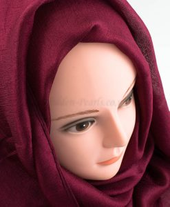 Shimmer Silk Hijab - Garnet - Hidden Pearls.NEF