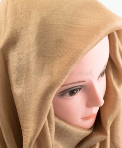 Shimmer Silk Hijab - Gold - Hidden Pearls.NEF