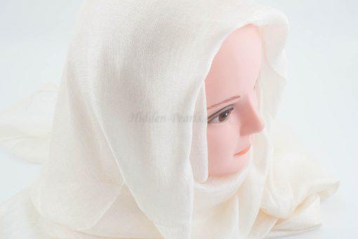 Shimmer Silk Hijab - Ivory- Hidden Pearls.NEF