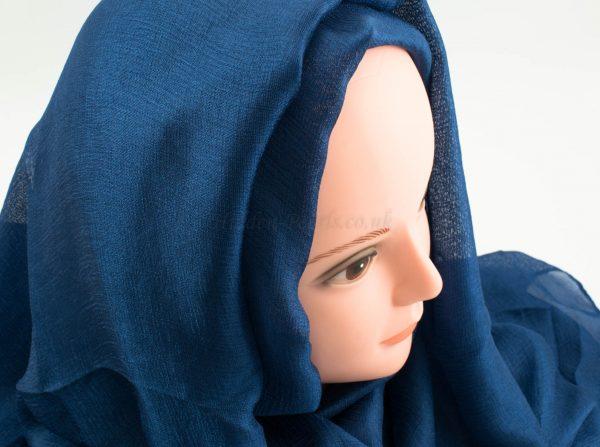 Shimmer Silk Hijab - Sapphire - Hidden Pearls.NEF