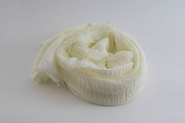 Crimp Hijab - Cream - Hidden Pearls