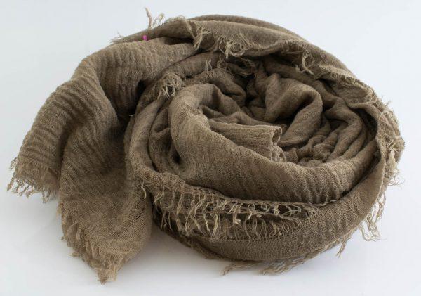 Crimp Hijab - Deep Khaki - Hidden Pearls