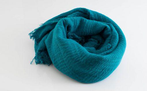 Crimp Hijab - Teal - Hidden Pearls