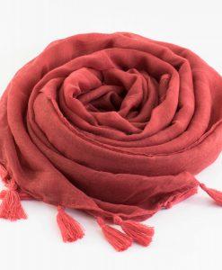 Tassel hijab Rust