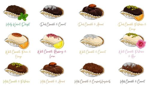 Choco Date. Delight flavours - hidden pearls