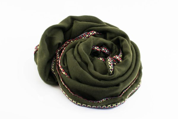 Aztec Ring Hijab Army Green 2