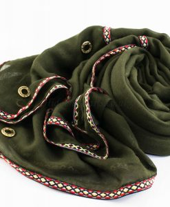 Aztec Ring Hijab Army green