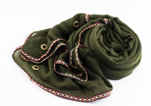 Aztec Ring Hijab Army green