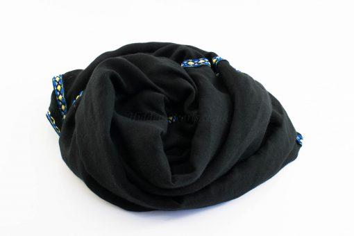 Aztec Ring Hijab Black