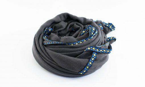 Aztec Ring Hijab Grey