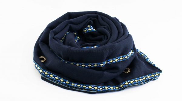 Aztec Ring Hijab Navy Blue